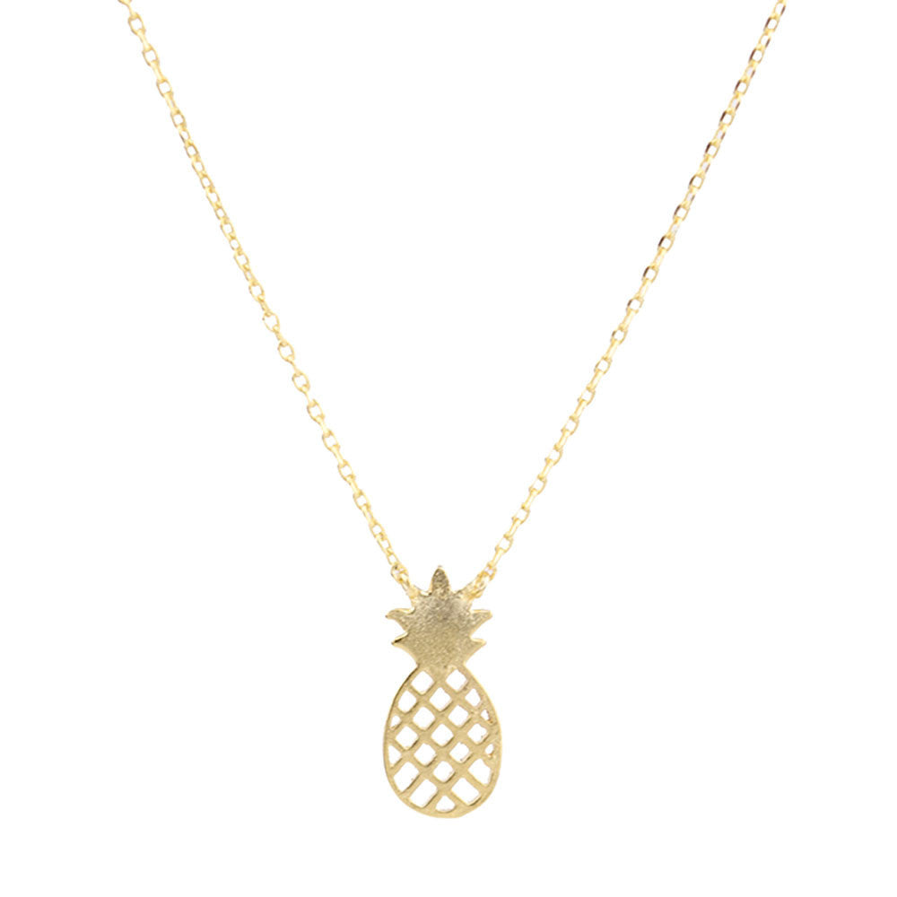 I found this at #moonandlola! - Ananas Pineapple Necklace the meaning of the pineapple is to show hospitality