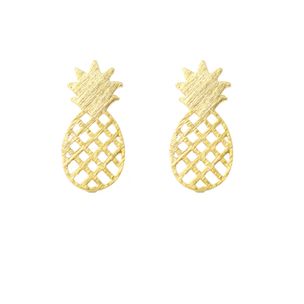 Moon and Lola - Pineapple Stud Earrings in the south the meaning of the pineapple is to show hospitality