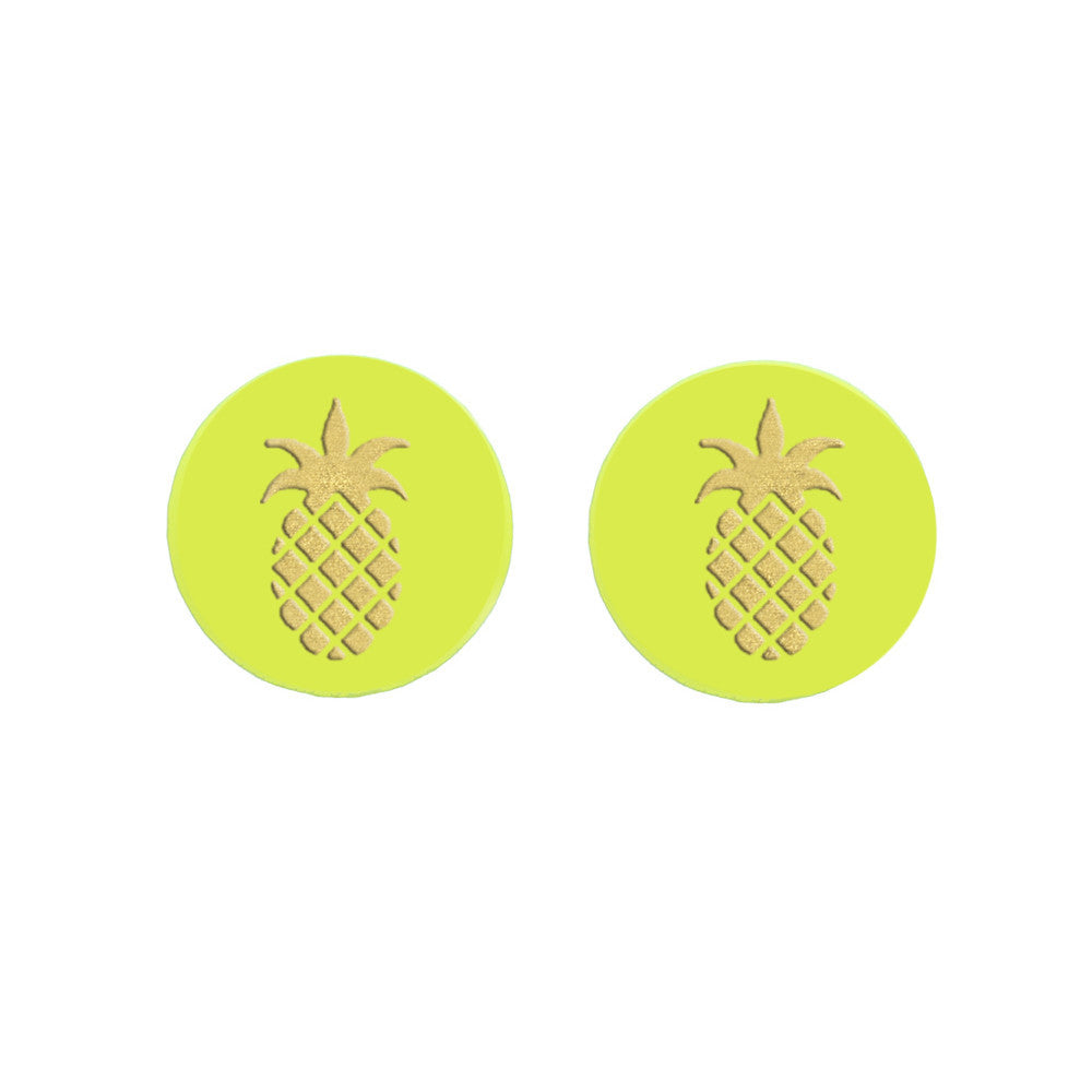 I found this at #moonandlola! - Eden Studs Pineapple