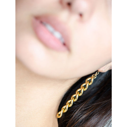 Moon and Lola - Raina Gold Chain Drop Earrings