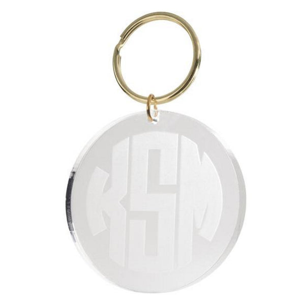 I found this at #moonandlola! - Reverse Engraved Block Monogram Key Chain