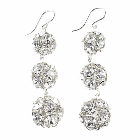 I found this at #moonandlola! - Europa Rhinestone Ball Earrings