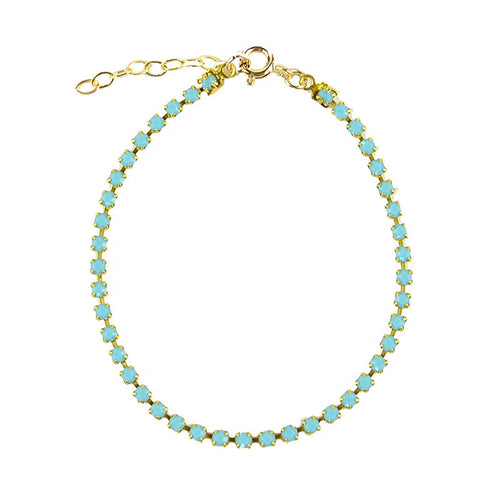 I found this at #moonandlola! - Rhinestone Chain Bracelet