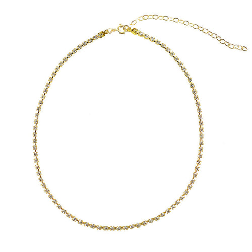 I found this at #moonandlola! - Rhinestone Chain Choker