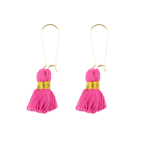 Moon and Lola - Palm Coco Tassel Earrings