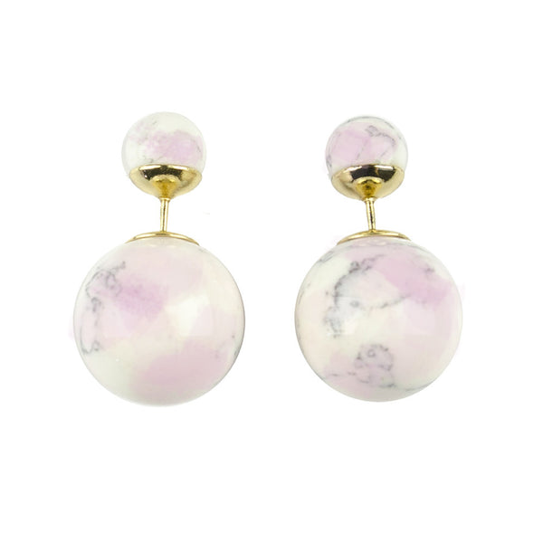 I found this at #moonandlola! - Savona Marble 360 Studs Pink