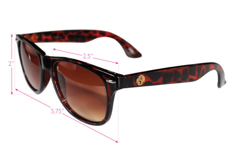 Moon and Lola - Monogram Wayfarer-Style Sunglasses