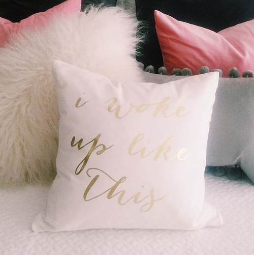 I found this at #moonandlola! - I Woke Up Like This Pillow styled