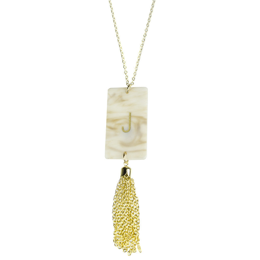 I found this at #moonandlola! - Rectangle Tassel Necklace