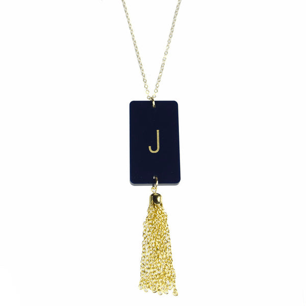 Moon and Lola - Rectangle Tassel Necklace