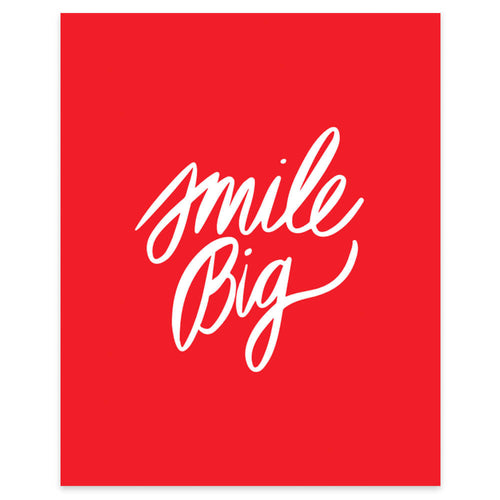 "Moon and Lola xx Thimblepress ""Smile Big"" framable print"