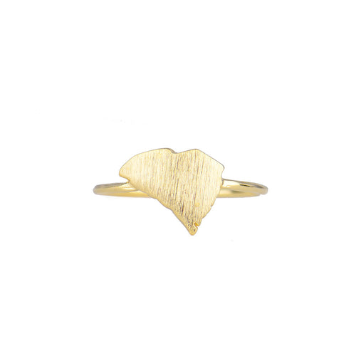 I found this at #moonandlola! - Brass South Carolina Ring