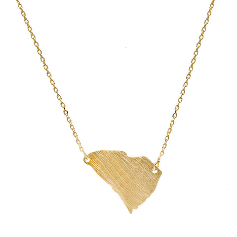 I found this at #moonandlola! - Brass South Carolina Necklace