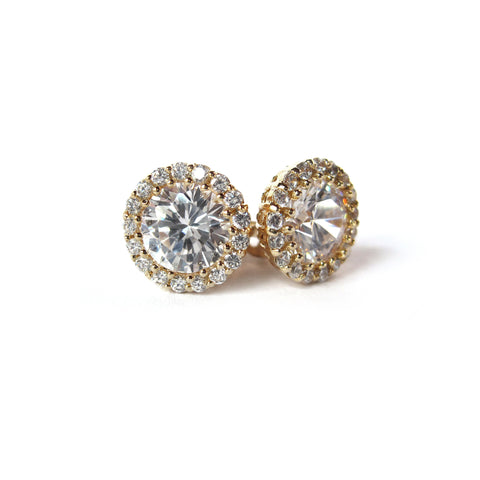 Luna Rhinestone Single Drop Earrings