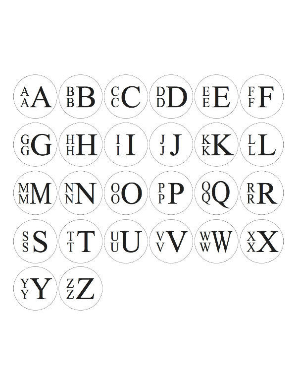 I found this at #moonandlola! - Stacked Monogram Font Sheet