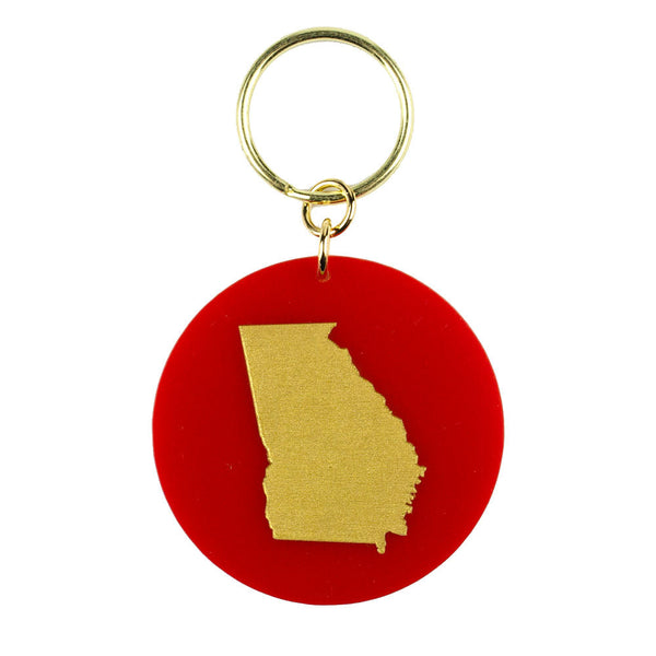 Moon and Lola - State Key Chain Ruby