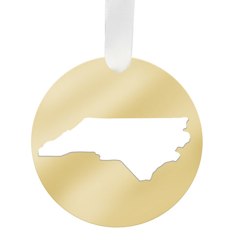 Brass North Carolina Necklace