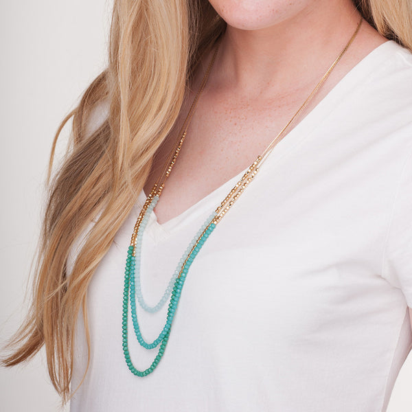 Moon and Lola - Stella Maris Necklace green
