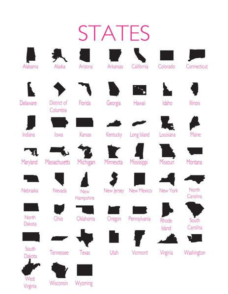 I found this at #moonandlola! - State Silhouettes