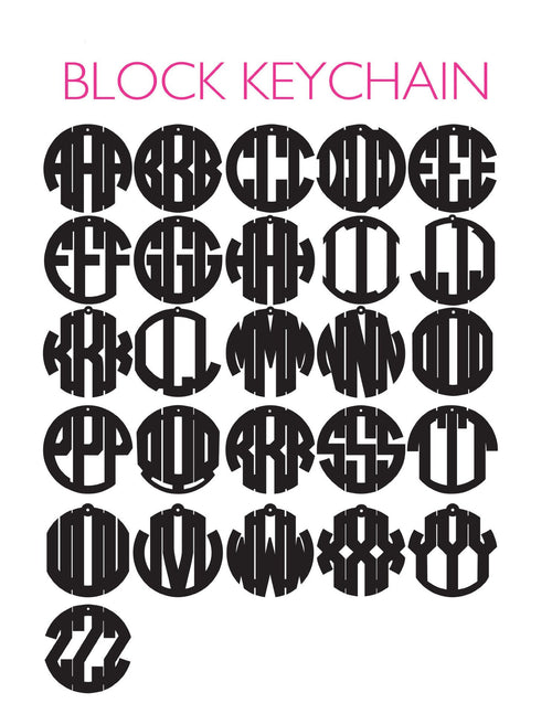 Moon and Lola - Block Monogram Chart
