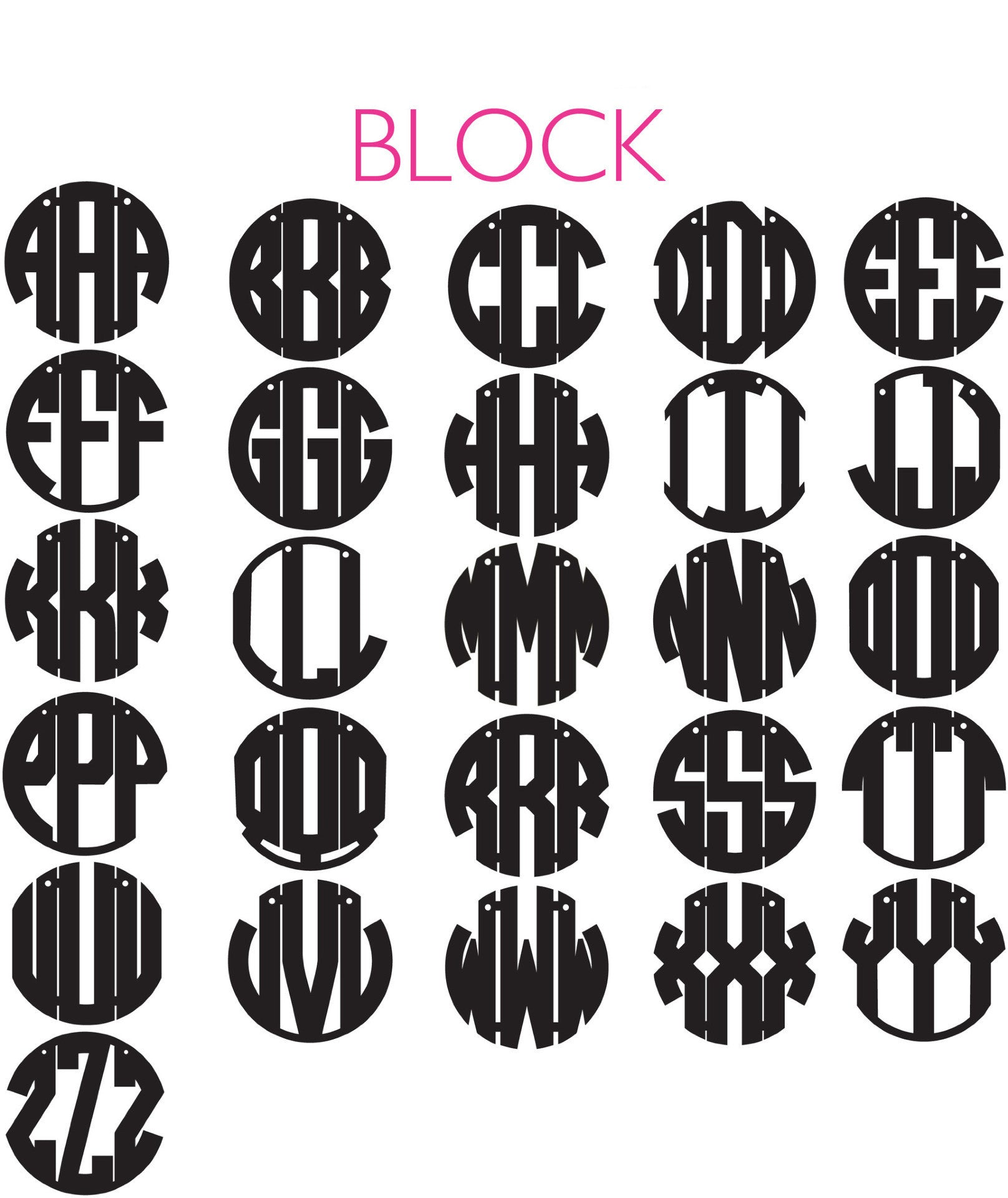 moon and lola acrylic block monogram necklace