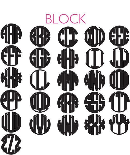 I found this at #moonandlola! - Block 3 Letter Monogram Font Sheet