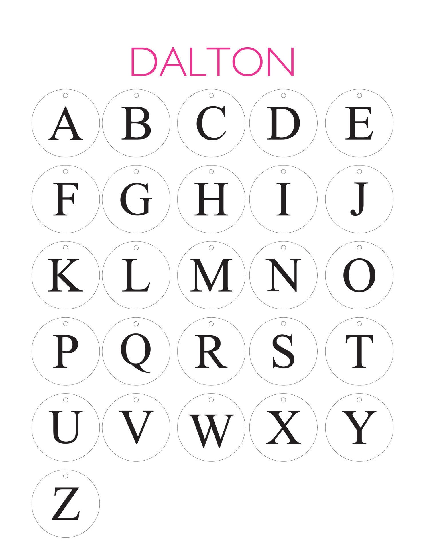 I found this at #moonandlola! - Dalton Letter Font