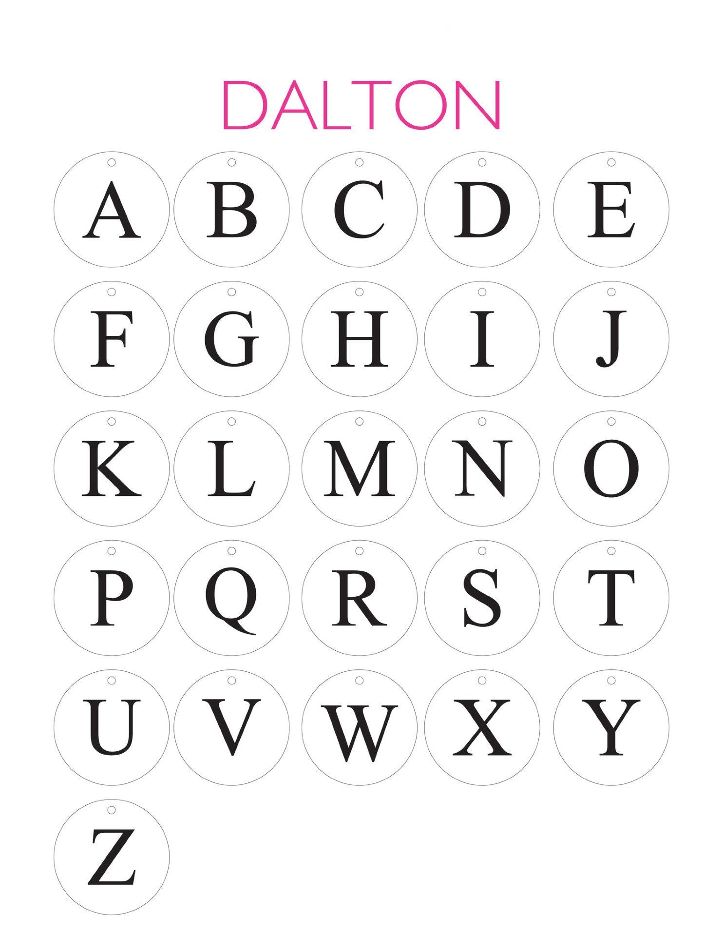 Moon and Lola - Dalton Font Sheet