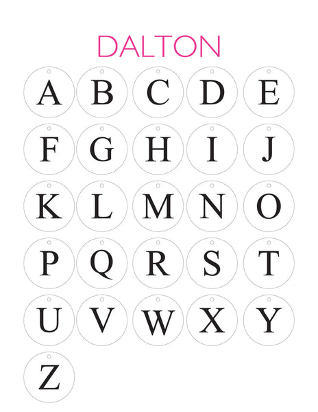 Moon and Lola - Dalton Letter Chart