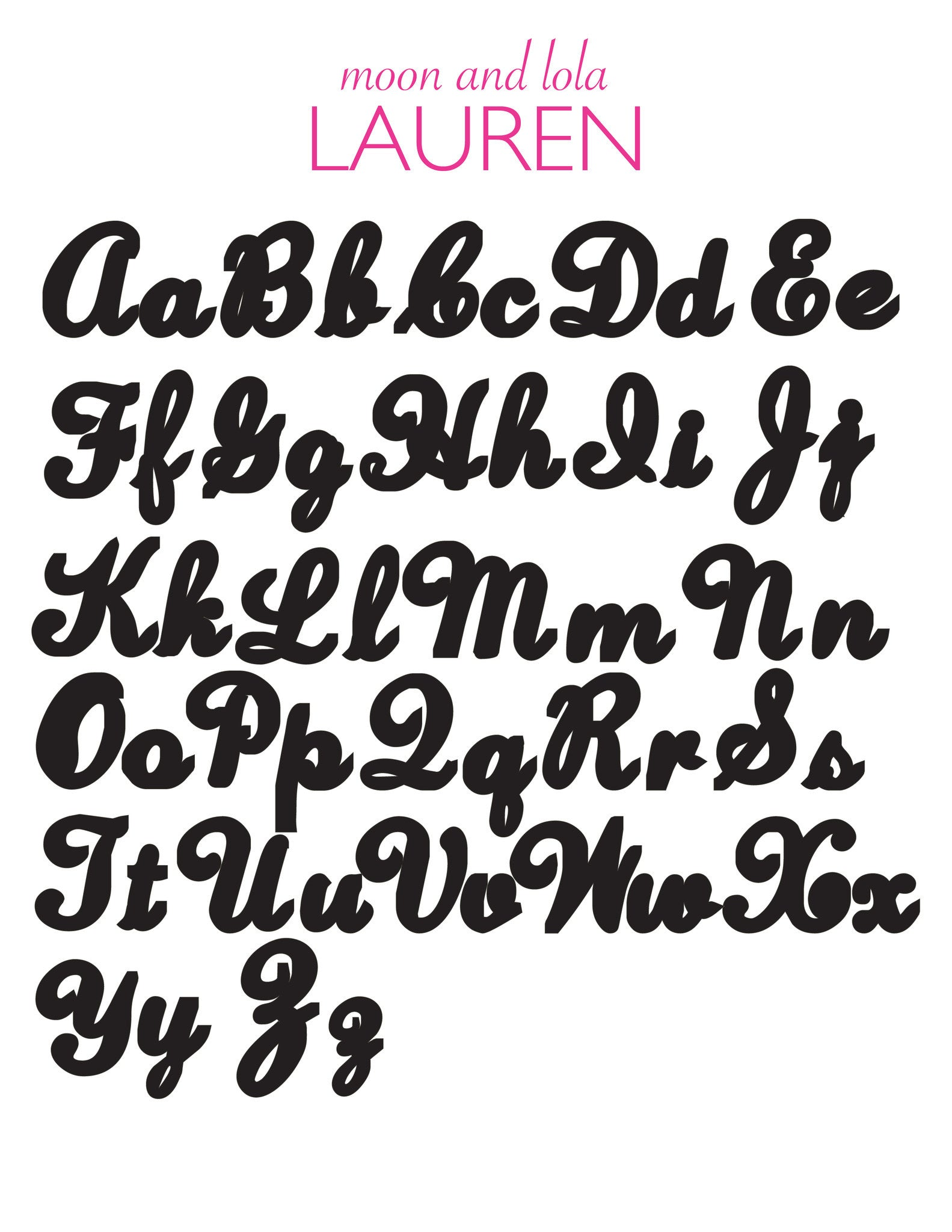 I found this at #moonandlola! - Acrylic Nameplate Lauren Font