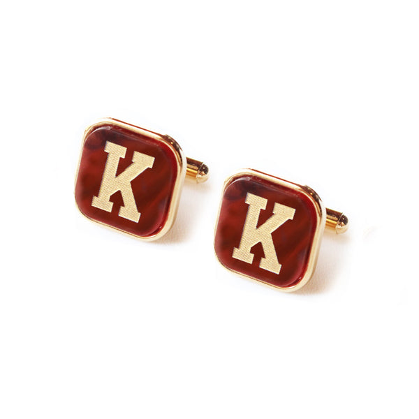 Moon and Lola - Acrylic Varsity Square Cuff Link