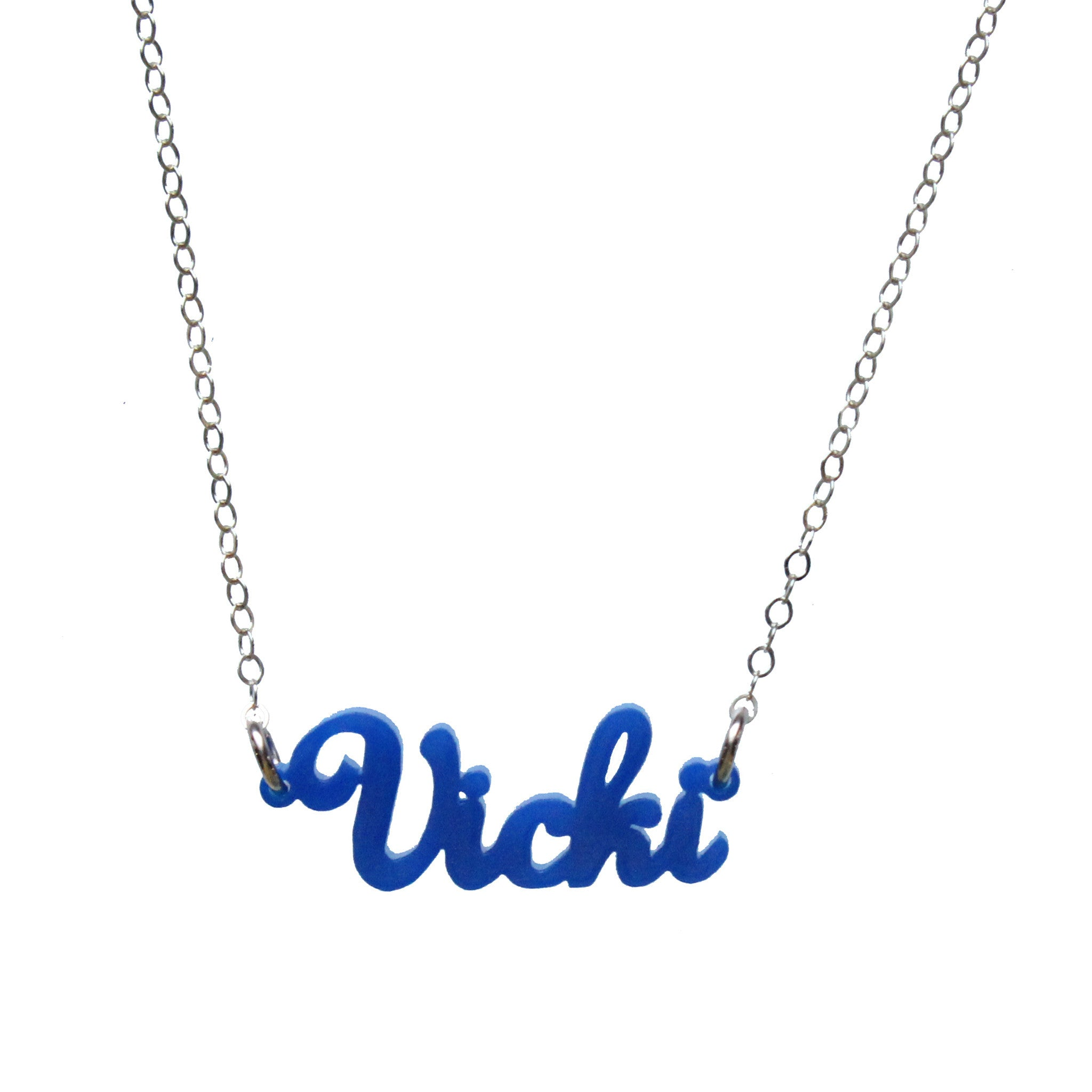 I found this at #moonandlola! - Acrylic Nameplate Necklaces With Lauren Font