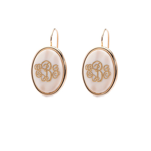 I found this at #moonandlola! - -Vineyard Oval Monogram Dangle Earrings
