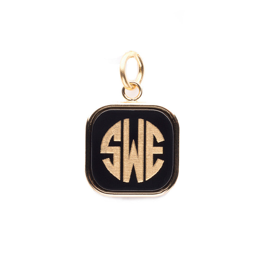 I found this at #moonandlola! - Vineyard Square Monogram Charm