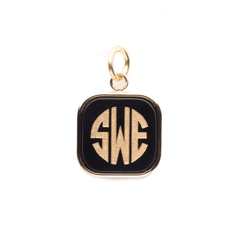 Moon and Lola - Vineyard Square Monogram Pendant