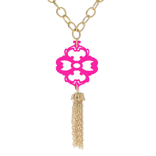 I found this at #moonandlola! - Wallace Tassel Necklace