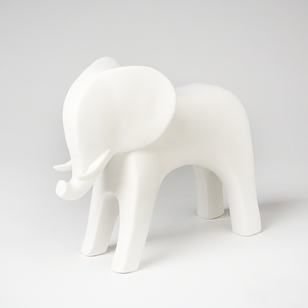 I found this at #moonandlola! - Ceramic Elephant White