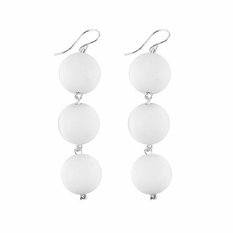 I found this at #moonandlola! - Europa White Wood Earrings