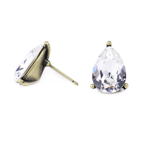 I found this at #moonandlola! - Windsor Crystal Studs side view