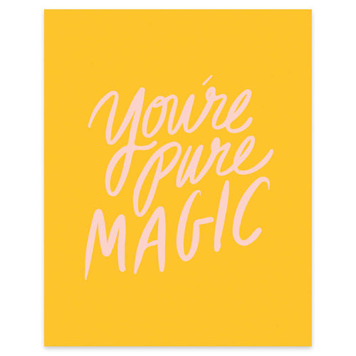 "Moon and Lola xx Thimblepress ""You're Pure Magic"" framable print"