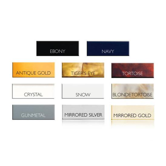Moon and Lola - Acrylic Color Chart for Old English Engraved Acrylic Bar Necklace