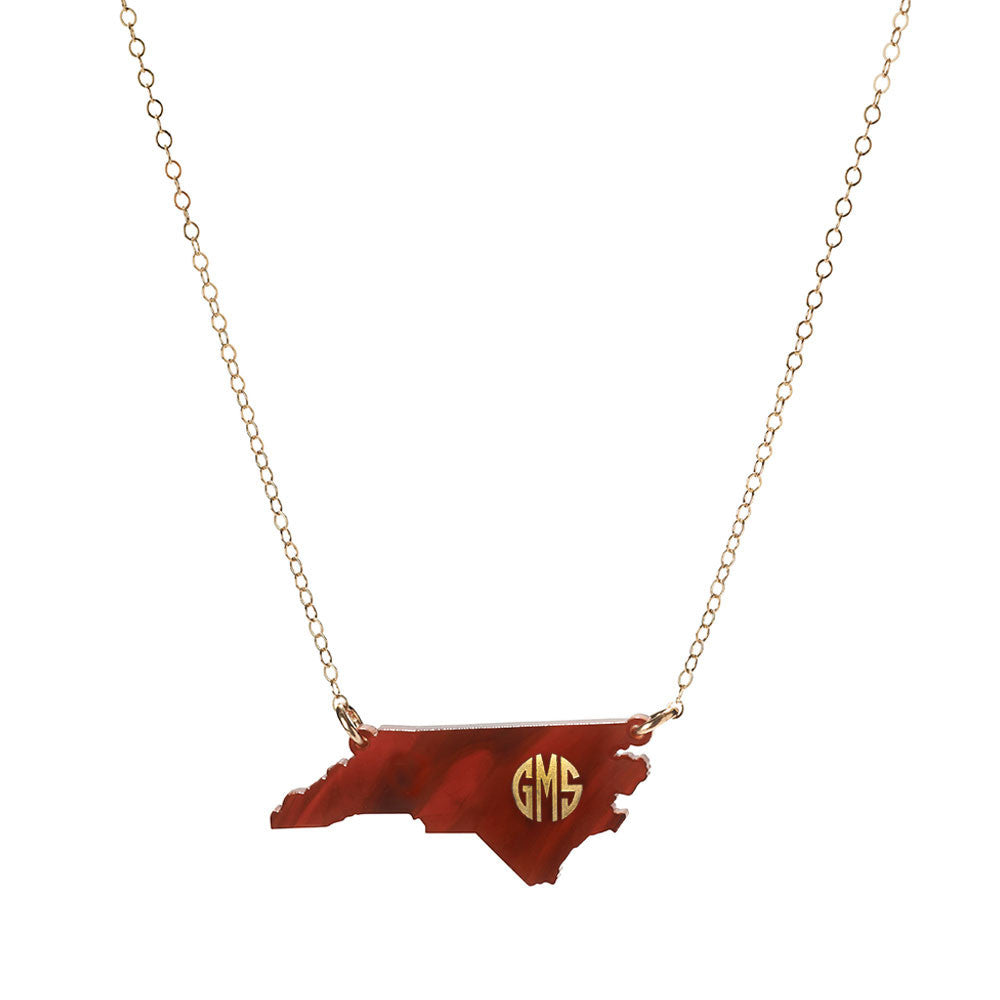 I found this at #moonandlola! - Acrylic State Monogram Necklace