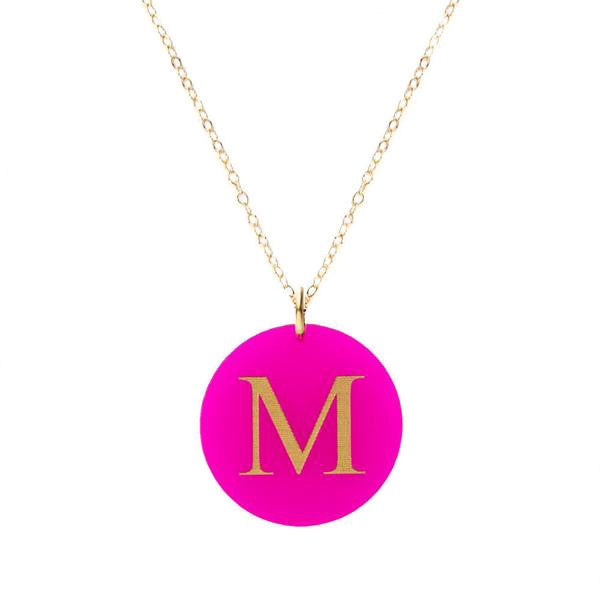 I found this at #moonandlola! - Acrylic Dalton Necklace Hot Pink