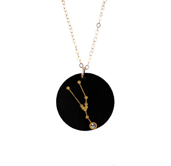 I found this at #moonandlola! - Acrylic Zodiac Constellation Charm on Apex Chain