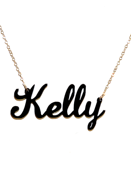 I found this at #moonandlola! - Acrylic Nameplate Necklaces K-L