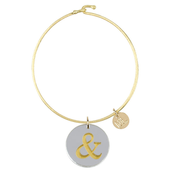 I found this at #moonandlola! - Eden Ampersand Charm Bangle