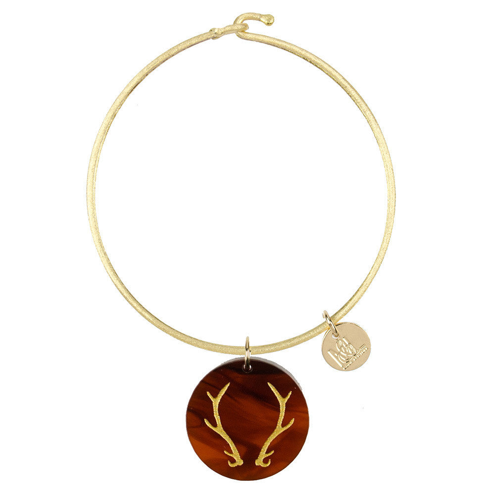 I found this at #moonandlola! - Eden Antlers Charm Bangle