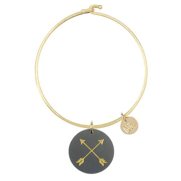 I found this at #moonandlola! - Eden Arrows Charm Bangle