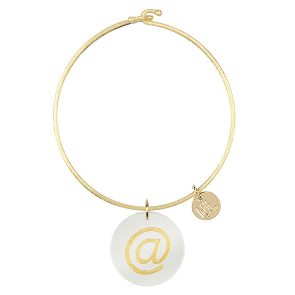 I found this at #moonandlola! - Eden At Sign Charm Bangle