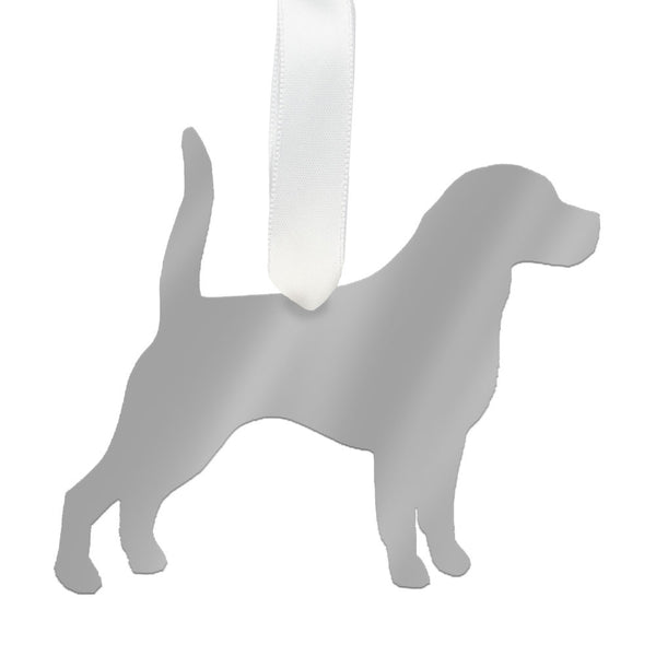 I found this at #moonandlola! - Beagle Ornament Mirrored Silver